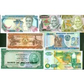 Lot: AFRIKA / AFRICA Mix  7x Banknote  I  [1961-1992]