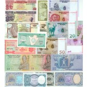 Lot: AFRIKA / AFRICA Mix  19x Banknote  I  [1981-2001]