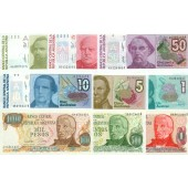 Lot: ARGENTINIEN / ARGENTINA  9x Banknote  I  [1976-1988]