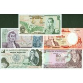 Lot: KOLUMBIEN / COLOMBIA  5x Banknote  I  [1980-1991]