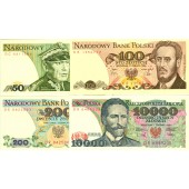 Lot: POLEN / POLAND  4x Banknote Zloty  I  [1982-1988]