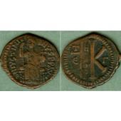 JUSTINIAN I.  Halbfollis  f.ss  selten!  [527-565]