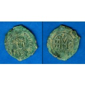 Flavius MAURICE TIBERIUS  Follis  ss  [597-598]