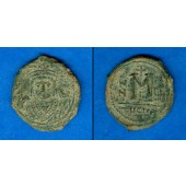 Flavius MAURICE TIBERIUS  Follis  ss+  [582-602]