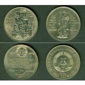 Lot: DDR 2x  10 Mark Gedenkmünzen  f.st  [1985-1989]