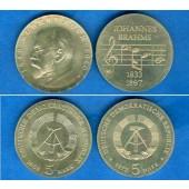Lot: DDR 2x 5 Mark Gedenkmünzen  ST  [1968-1972]