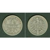 Deutsches Reich 1 Mark 1882 G (J.9)  s-ss