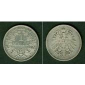 Deutsches Reich 1 Mark 1874 D (J.9)  ss-vz