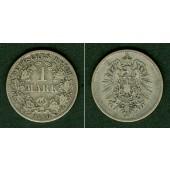 Deutsches Reich 1 Mark 1880 D (J.9)  s-ss