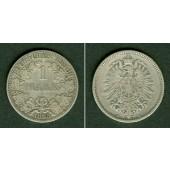 Deutsches Reich 1 Mark 1885 A (J.9)  f.ss