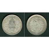 Deutsches Reich 1 Mark 1875 D (J.9)  vz