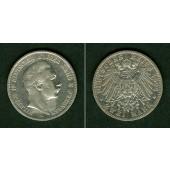 Preussen 2 Mark 1892 A  ss  selten!