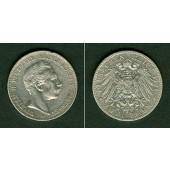 Preussen 2 Mark 1901 A  ss+  selten