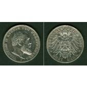 Württemberg 3 Mark 1909 F  ss+