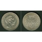 Preussen 3 Mark 1909 A  f.vz