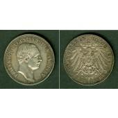 Sachsen 3 Mark 1909 E  ss+