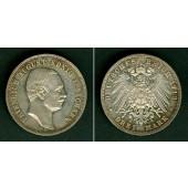 Sachsen 3 Mark 1913 E  vz  seltener