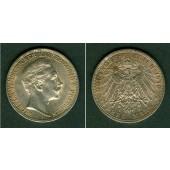 Preussen 3 Mark 1910 A  f.vz