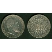 Württemberg 5 Mark 1901 F  ss-vz  selten