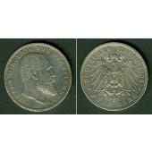 Württemberg 5 Mark 1903 F  ss+