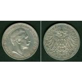 Preussen 5 Mark 1908 A  ss-vz