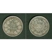 Deutsches Reich 1/2 Mark 1908 G  ss  selten