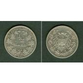 Deutsches Reich 1/2 Mark 1909 G  ss  selten