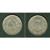 Deutsches Reich 1/2 Mark 1911 J  ss  selten