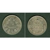 Deutsches Reich 1/2 Mark 1912 D  ss+