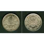 Deutsches Reich 1/2 Mark 1912 E  vz-st  selten