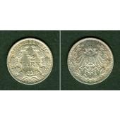 Deutsches Reich 1/2 Mark 1905 J  f.st