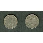 DEUTSCHES REICH 10 Pfennig 1901 J  ss/ss-