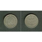 DEUTSCHES REICH 10 Pfennig 1906 J  ss