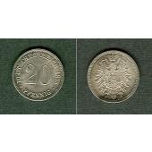 DEUTSCHES REICH 20 Pfennig 1875 C  f.stgl.