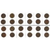 Lot: DEUTSCHES REICH  12x 2 Pfennig  [1875-1916]