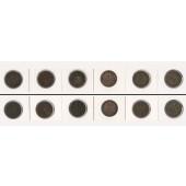 Lot: DEUTSCHES REICH  6x 2 Pfennig  [1874-1916]