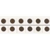 Lot: DEUTSCHES REICH  6x 2 Pfennig  [1874-1912]