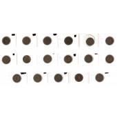 Lot: DEUTSCHES REICH  17x 2 Pfennig  [1874-1916]