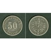 DEUTSCHES REICH 50 Pfennig 1875 B (J.7)  ss