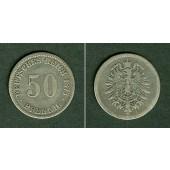 DEUTSCHES REICH 50 Pfennig 1875 J (J.7)  f.ss/s