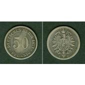 DEUTSCHES REICH 50 Pfennig 1877 C (J.7)  f.ss