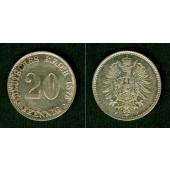 DEUTSCHES REICH  20 Pfennig 1876 F  f.vz
