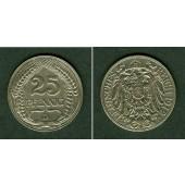 DEUTSCHES REICH 25 Pfennig 1912 D (J.18)  vz