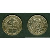 DEUTSCHES REICH 25 Pfennig 1910 E (J.18)  vz-st