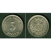 DEUTSCHES REICH 5 Pfennig 1909 D (J.12)  vz+