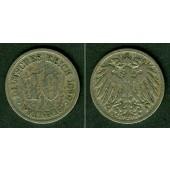 DEUTSCHES REICH 10 Pfennig 1898 G  s-ss  selten!