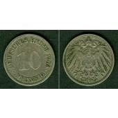 DEUTSCHES REICH 10 Pfennig 1903 G  ss  selten