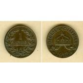 Deutsch Ostafrika 1 Heller 1912 J  vz+