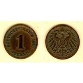 DEUTSCHES REICH  1 Pfennig 1893 F  ss+