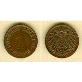 DEUTSCHES REICH  1 Pfennig 1894 G  vz/vz-stgl.  selten